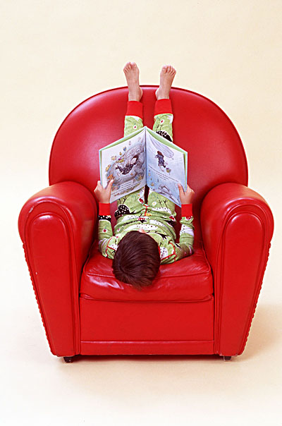 Boy in Red Chair